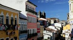 Historical centre, Pelourinho, Salvador, Brazil Stock Footage