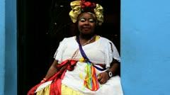 Traditional dress Bahian women, Salvador, Brazil Stock Footage