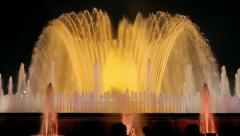 Barcelona Magic Fountain Night (HD) Stock Footage