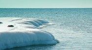Frozen Coastline Stock Footage