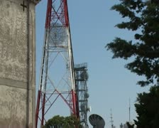 Radio and television towers Stock Footage