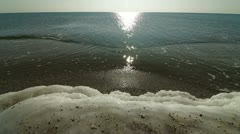 Icy Coastline Of Black Sea - stock footage