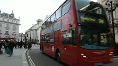 Double decker bus, London - stock footage