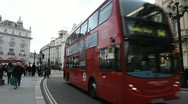 Stock Video Footage of Double deck bus, London