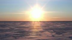 Arctic Ice Sheet Zoom in, Bering Sea, Alaska Stock Footage