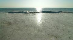 Stock Video Footage of Frozen Coastline of Black Sea