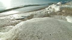 Icy Coastline - stock footage