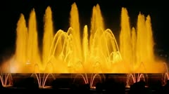Barcelona Magic Fountain Yellow (HD) Stock Footage