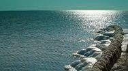 Stock Video Footage of Frozen Seascape