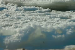 Floating Sea Ice Surface Stock Footage