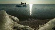 Stock Video Footage of Peaceful Winter Seascape