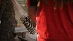 Hammock Ukulele Man With Dreads Stock Footage