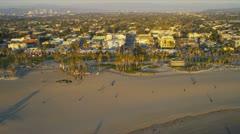 Aerial coastal suburban homes, LA, USA Stock Footage