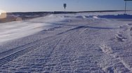 Cold Snow Ice windy Road Stock Footage