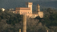 Bolgheri castle Stock Footage