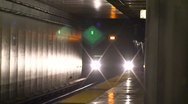 San Francisco Workday BART Trains Stop Unload Stock Footage