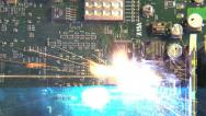 Stock Video Footage of Zapping Exploding Electronic Circuit Board