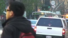San Francisco Workday Morning DT Traffic 2 Stock Footage