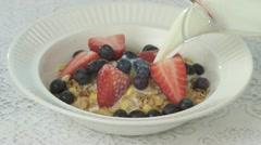 Breakfast Cereal 01b Stock Footage