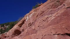 Anasazi Cliff Dwellings Tilt 3 Stock Footage