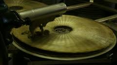 Olive paste on fiber disk to produce extra virgin olive oil - stock footage
