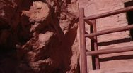 Stock Video Footage of Anasazi Cliff Dwellings Pan