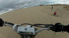 Quad and Dirt Bike sand trail follow HD Stock Footage