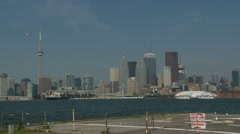 Trucking-shot of Toronto Harbor Stock Footage