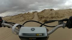 Dirt bike on a sand trail first person HD0038 Stock Footage