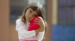 Little girl Valentine day Stock Footage