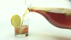 Ice Tea w 03 Stock Footage