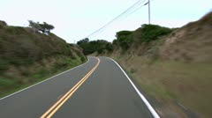 Driving South On Hwy 1 Mendocino Morning Stock Footage