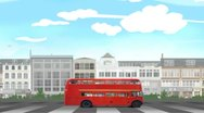 London buss Stock Footage