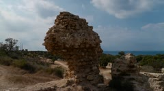 Ashkelon Canaanite wall TL  1.mp4 Stock Footage