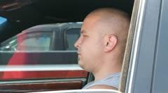 Felon in a Car Stock Footage