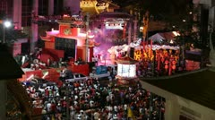 Chinese New Year Celebrations in Chinatown, Bangkok, Thailand Stock Footage