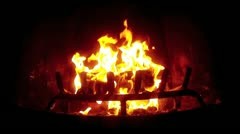 Fireplace in Slow Motion Stock Footage