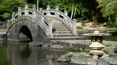 Zen Garden Bridge in Hilo, Hawaii Stock Footage