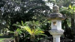 Zen Garden in Hilo, Hawaii Stock Footage
