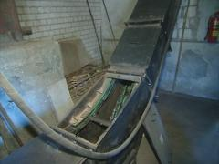 Escalator feed sawdust Stock Footage