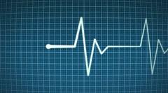 Animated cardiogram Stock Footage