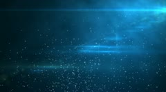 Particle with flare background Stock Footage