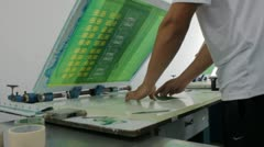 Screen Printing of Circuit Board Stock Footage