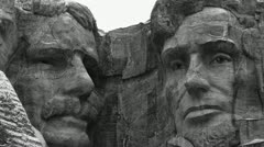 Mount Rushmore Monochrome Stock Footage