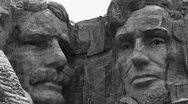 Stock Video Footage of Mount Rushmore Monochrome