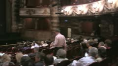 Interior of the English National Opera (ENO) auditorium in London Stock Footage
