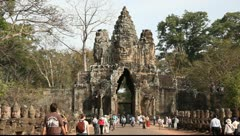 Angkor Thom Stock Footage