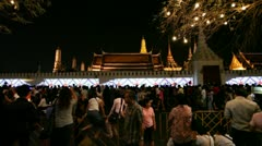 Thai crowd attending the King's birthday celebrations Stock Footage