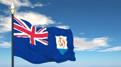 Stock Video Footage of Flag Of Anguilla