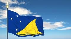 Flag Of Tokelau Stock Footage